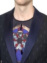 Diesel Black Gold Hexagonal Jacquard Cotton Blend Jacket
