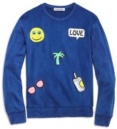 Flowers by Zoe Girls' French Terry Appliquéd Sweatshirt - Big Kid