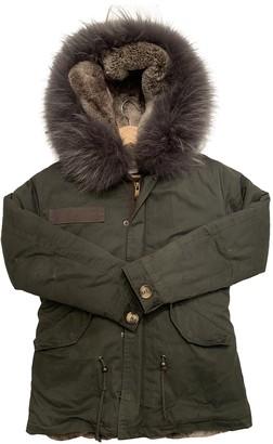 Ducie Khaki Cotton Coat for Women