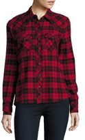 True Religion Casual Button-Down Cotton Long-Sleeve Plaid Shirt