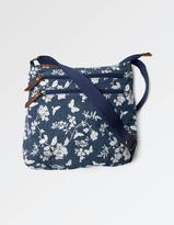 Fat Face Bird Printed Canvas Cross Body Bag