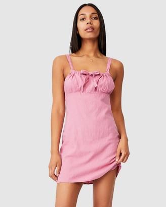 Cotton On Woven Layla Tie Front Mini Dress
