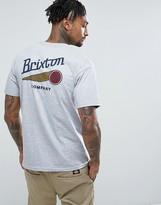 Brixton Maverick T-shirt With Back Print