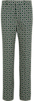 Gucci Printed Cotton Straight-leg Pants - Emerald