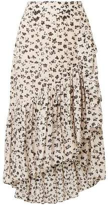 Ulla Johnson Gretchen Asymmetric Tiered Floral-print Cotton And Silk-blend Gauze Skirt