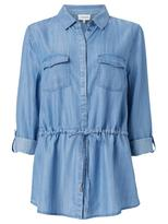 Jeanswest Tamika Chambray Tie Waist Shirt-Chambray-8