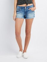 Charlotte Russe Refuge Mid-Rise Shortie Shorts