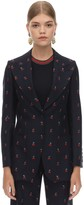 Gucci Gg Embroidered Wool & Cotton Jacket
