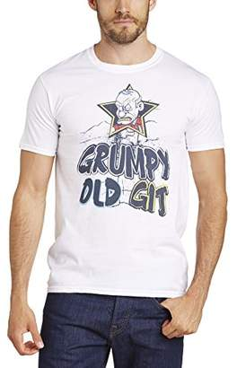 Minted Men's Grumpy Old Git Regular Fit Round Collar Short Sleeve T-Shirt