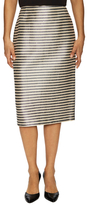 Lafayette 148 New York Stripe Midi Pencil Skirt