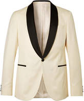 Hugo Boss - White Nemir Slim-fit Wool And Silk-blend Tuxedo Jacket