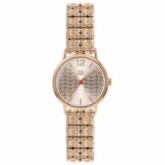 Orla Kiely Womens Analogue Classic Quartz Watch with Brass Strap OK4096