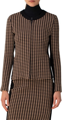 Akris Punto Houndstooth Jersey Jacket