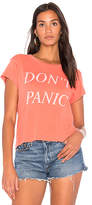 Wildfox Couture Don't Panic Tee in Red. - size L (also in M,S,XS)