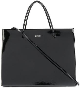 Medea Patent Leather Tote Bag