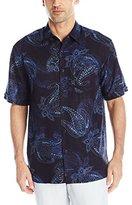 Cubavera Men's Short-Sleeve Paisley-Print Woven Shirt