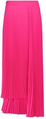 Balenciaga Pleated asymmetric crepe skirt