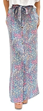 BILLY T Gravy Train Floral Print Skirt