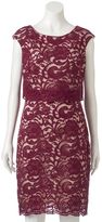 Jax Women's Lace Popover Sheath dress