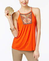 INC International Concepts Petite Embellished Halter Top, Only at Macy's