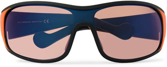 Moncler Wrap-Frame Mirrored Acetate Sunglasses