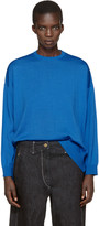 Enfold Blue Wool Pullover