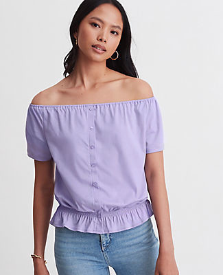 Ann Taylor Convertible Smocked Waist Top