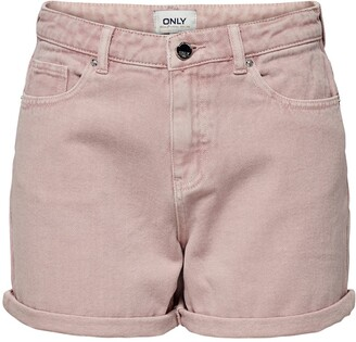Only High Waist Cuffed Shorts