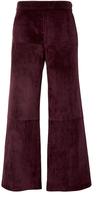 Derek Lam Leather Paneled Gaucho Pants