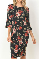 Gilli Black Floral Dress