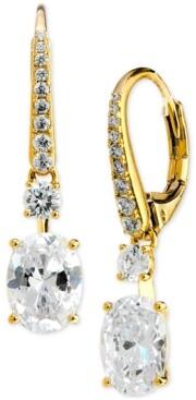 Eliot Danori Cubic Zirconia Oval Drop Earrings, Created for Macy's