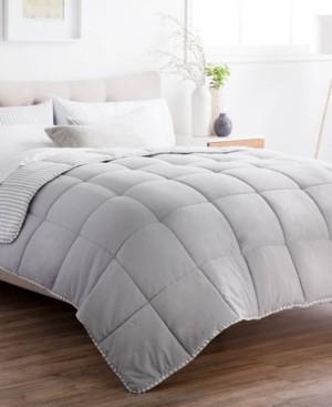 Brookside Striped Reversible Chambray Comforter Set, Oversized King Bedding