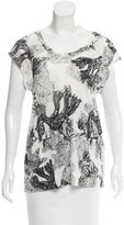By Malene Birger Printed Short Sleeve Top