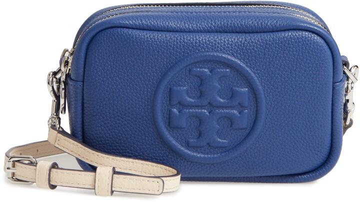 f024a739f Tory Burch Blue Leather Crossbody Handbags - ShopStyle