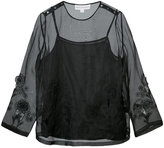 Robert Rodriguez sheer layer blouse