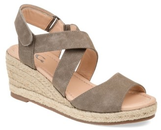 Journee Collection Spencer Espadrille Wedge Sandal
