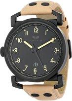 Vestal Men's OB3L008 Observer Leather Analog Display Japanese Quartz Beige Watch