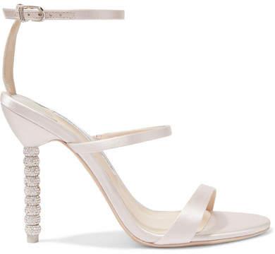 Sophia Webster Rosalind Crystal-embellished Satin Sandals - Ivory