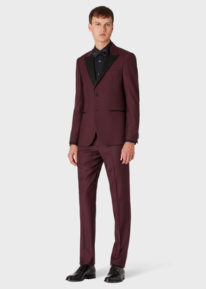 Paul Smith The Soho - Men's Tailored-Fit Damson Wool Evening Suit