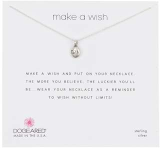 Dogeared Sterling Silver Make A Wish Pebble Necklace
