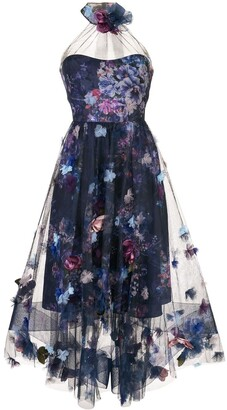 Marchesa 3D floral dress