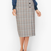 Talbots Macintosh Plaid Faux Wrap Pencil Skirt
