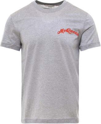 Alexander McQueen Logo Embroidered T-Shirt