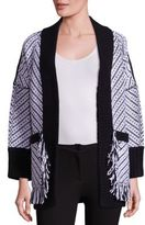 Burberry Glasshouse Graphic Wool Knit Cardigan