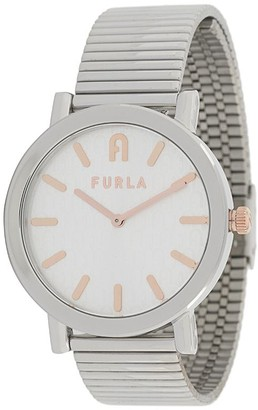 Furla Round Shape Link Watch