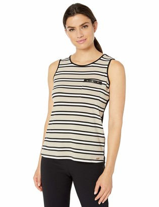 Calvin Klein Women's Sleeveless TOP with Pocket and Studs