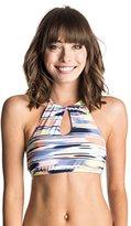 Roxy Women's Smooth Ikat Crop Halter Bikini Top