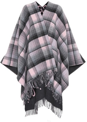 Gucci Reversible checked wool poncho