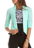 Charlotte Russe Open-Front Crepe Blazer