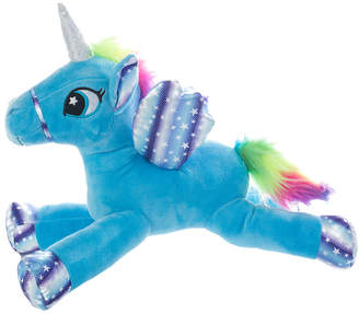 Yuka Magic Sparkle White And Blue Unicorn Plushy